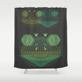 Fusion Frogs Shower Curtain