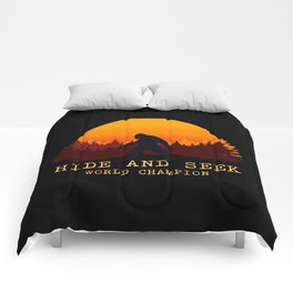 Bigfoot - Hide and Seek World Champion Comforters