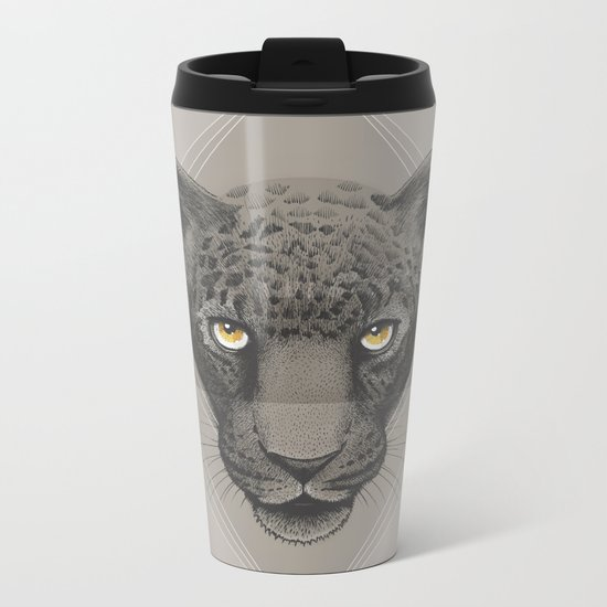Eternal | Leopard Metal Travel Mug