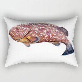Dusky grouper or merou Rectangular Pillow