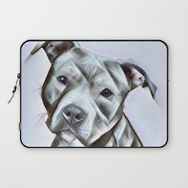 Pit Bull lover, a portrait of a beautiful pit bull puppy Laptop Sleeve