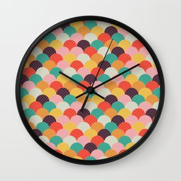 geometic bows Wall Clock
