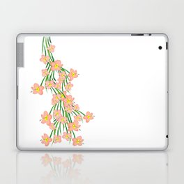 Peachy Pink Floral Laptop & iPad Skin