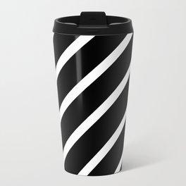 TEAM COLORS 1......Black and white Travel Mug