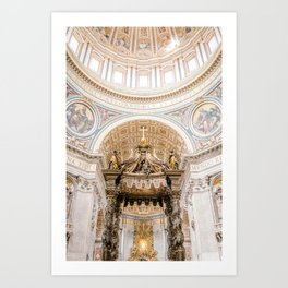 Rome 0002: Saint Peters Cathedral, San Pietro, Vatican City, Rome, Italy Art Print