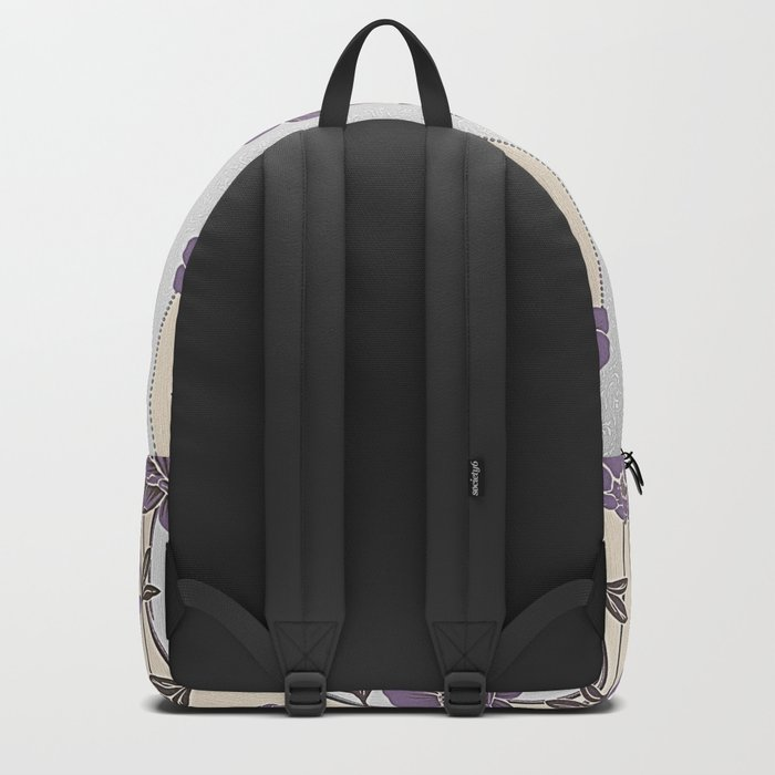 Purple Flower Garland Backpack