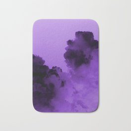 Purple stormy clouds Bath Mat