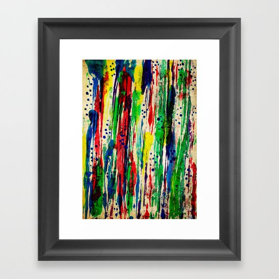 Disjointed Stripes Framed Art Print