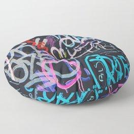 Graffiti Writing Floor Pillow