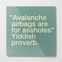 Avalanche Airbags Metal Print