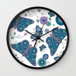 Butterfly Daydream Wall Clock