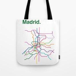 Madrid Transit Map Tote Bag