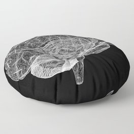 DELAUNAY BRAIN b/w Floor Pillow