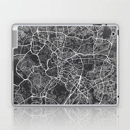 Kuala Lumpur Map, Malaysia - Gray Laptop & iPad Skin
