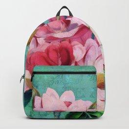 Verdigris Pink Magnolias Backpack