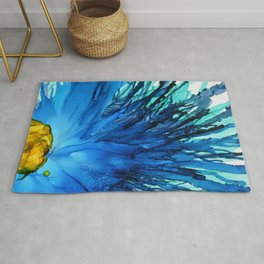 Cobalt Splash Rug