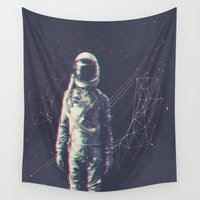 spaceman Wall Tapestries featuring Spaceman by Aeodi Graphics
