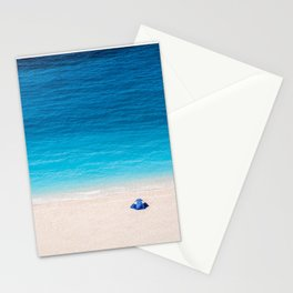 Alone On The Beach Stationery Cards