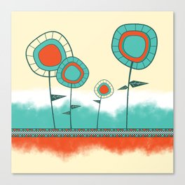 Four Wild Flowers Canvas Print