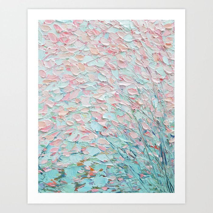 Weeping Cherries Art Print
