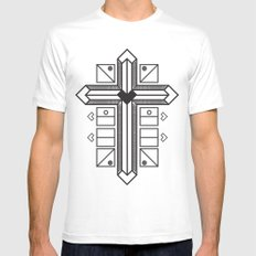 Mighty cross White Mens Fitted Tee MEDIUM
