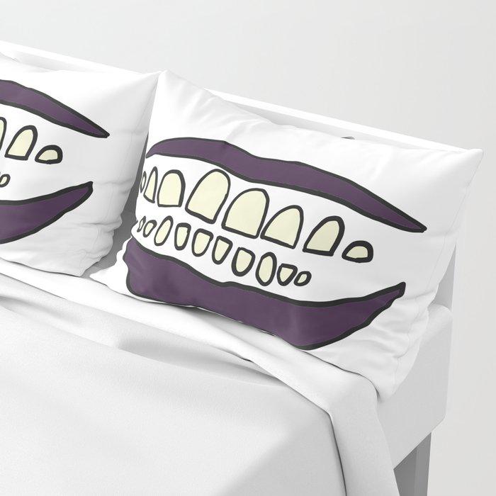Eggplant Smile Pillow Sham