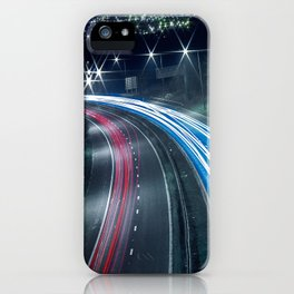 Tron like Light Trail iPhone Case