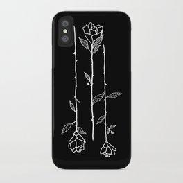 Roses Black iPhone Case