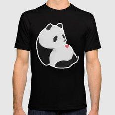 Panda MEDIUM Mens Fitted Tee Black