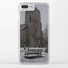 Dunkirk Church In Winter Clear iPhone Case