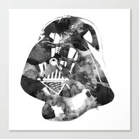 vader Canvas Prints featuring Vader by DanielBergerDesign