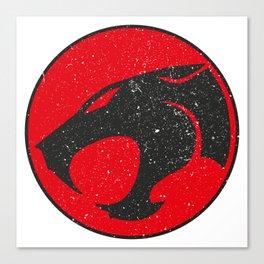 Thundercats worn logo Canvas Print