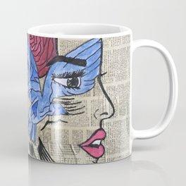 Whimsical News Girl Coffee Mug