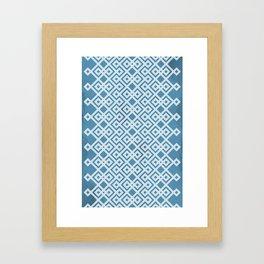 Slate Blue Geometry Framed Art Print
