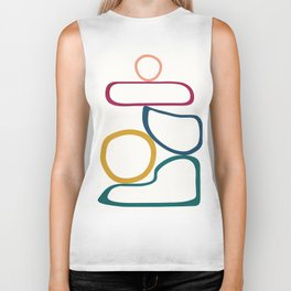 Colorful Flow IV Biker Tank