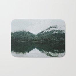 Foggy Reflection at the Alpine Lake Bath Mat