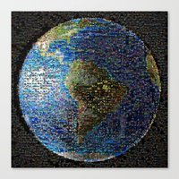 earth Canvas Prints featuring Earth  by 2sweet4words Designs