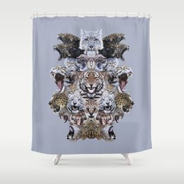 Team Kitty Shower Curtain