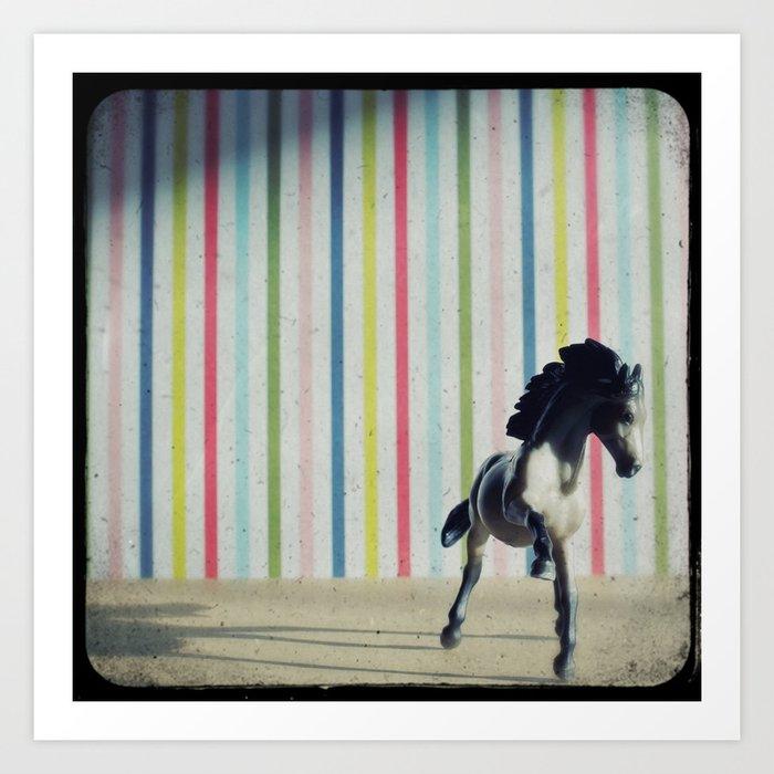 The Circus Horse Art Print