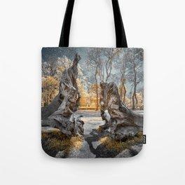 Cracked Tree Tote Bag