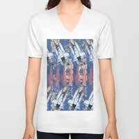 rocket V-neck T-shirts featuring Rocket by AnnaW