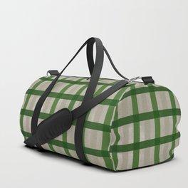 Evergreen Cozy Cabin Plaid Duffle Bag