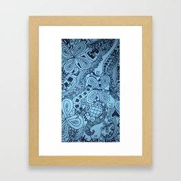 Hakuna Matata in Blue Framed Art Print