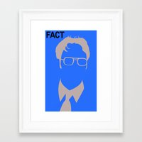 dwight Framed Art Prints featuring Dwight Schrute by Stacia Elizabeth