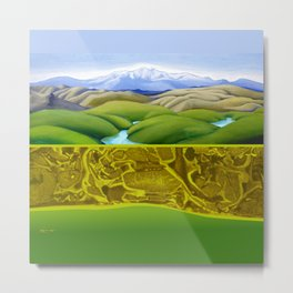 The Lie of the Land: Tararua Metal Print