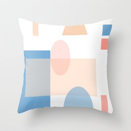 Mid Century Modern Abstract Shape Art Throw Pillow
