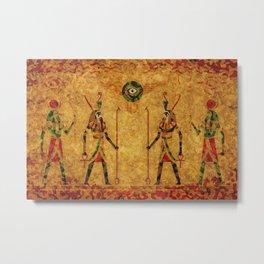 Egyptian Gods Metal Print