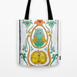 Owls in the nest Tote Bag