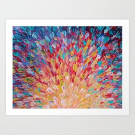 SPLASH - WOW Dash of Cheerful Color, Bold Water Waves Theme, Nature Lovers Modern Abstract Decor Art Print