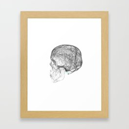 skull trails black Framed Art Print